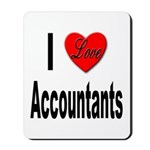 I Love Accountants Mousepad