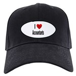 I Love Accountants Black Cap