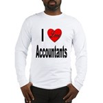 I Love Accountants (Front) Long Sleeve T-Shirt