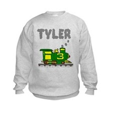 Tyler 3-Green & Yellow Train Sweatshirt