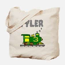 Tyler 3-Green & Yellow Train Tote Bag