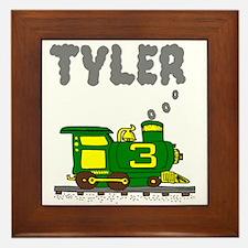 Tyler 3-Green & Yellow Train Framed Tile