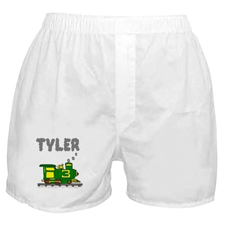 Tyler 3-Green & Yellow Train Boxer Shorts