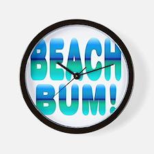 Beach Bum! Wall Clock