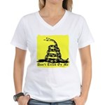 Don't Tread On Me Gadsden Women's V-Neck T-Shirt
