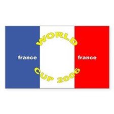 France World Cup Soccer Rectangle Decal