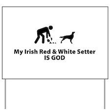 Irish Red & White Setter Yard Sign