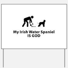 Irish Water Spaniel Yard Sign