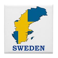 Sweden Tile Coaster