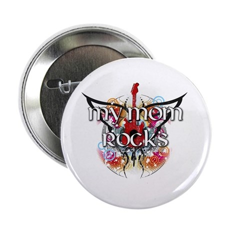 """My Mom Rocks 2.25"""" Button (100 pack)"""