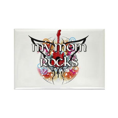 My Mom Rocks Rectangle Magnet (100 pack)