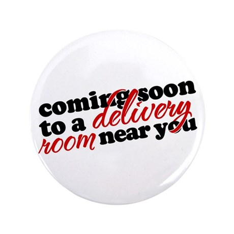 """Coming soon (red) 3.5"""" Button"""