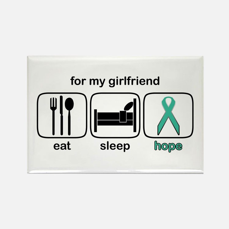 Girlfriend ESHope Ovarian Rectangle Magnet