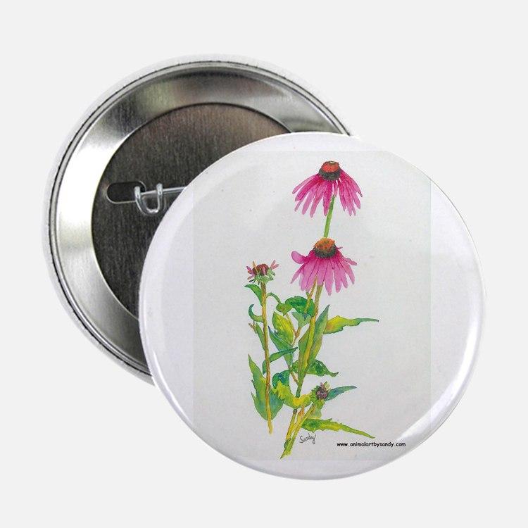 Purple Coneflower Button