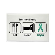 Friend ESHope Ovarian Rectangle Magnet