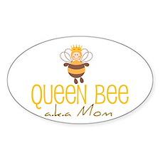 Queen Bee Oval Decal