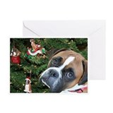 Boxer christmas Greeting Cards (10 Pack)