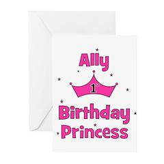 1st Birthday Princess Ally! Greeting Cards (Pk of