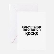 CONCENTRATION MEDITATION  ROC Greeting Cards (Pack