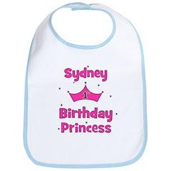 1st Birthday Princess Sydney! Bib