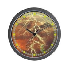 5 O'clock Lightning Wall Clock
