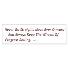 Progress Bumper Bumper Sticker