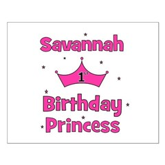 1st Birthday Princess Savanna Posters