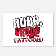 Rude, Crude and Tattooed Postcards (Package of 8)