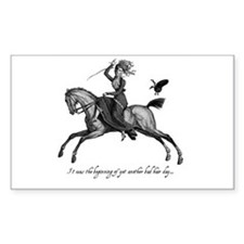 Bad Hair Day Rectangle Decal