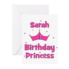 1st Birthday Princess Sarah! Greeting Cards (Pk of