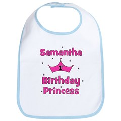 1st Birthday Princess Samanth Bib