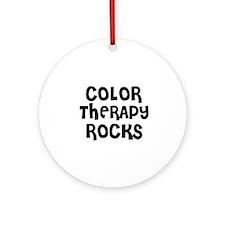 COLOR THERAPY  ROCKS Ornament (Round)