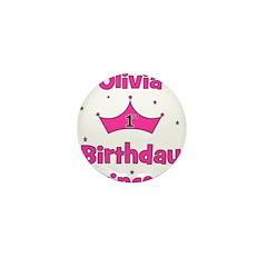 1st Birthday Princess Olivia! Mini Button