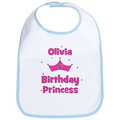 1st Birthday Princess Olivia! Bib