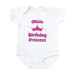1st Birthday Princess Olivia! Infant Bodysuit