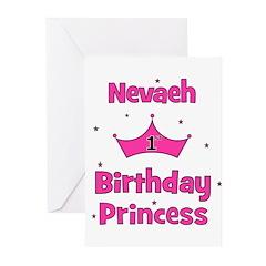 1st Birthday Princess Nevaeh! Greeting Cards (Pk o