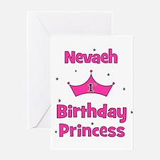 1st Birthday Princess Nevaeh! Greeting Card