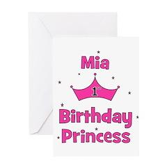 1st Birthday Princess Mia! Greeting Card