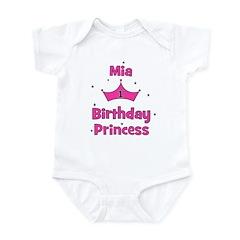 1st Birthday Princess Mia! Infant Bodysuit