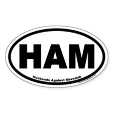 HAM Husbands Against Meredith Euro Oval Decal