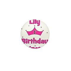 1st Birthday Princess Lily! Mini Button