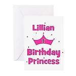 1st Birthday Princess Lillian Greeting Cards (Pk o