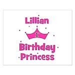 1st Birthday Princess Lillian Small Poster