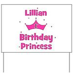 1st Birthday Princess Lillian Yard Sign