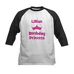 1st Birthday Princess Lillian Kids Baseball Jersey