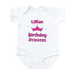 1st Birthday Princess Lillian Infant Bodysuit