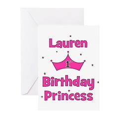 1st Birthday Princess Lauren! Greeting Cards (Pk o