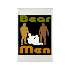 Unique Hairy men Rectangle Magnet (10 pack)