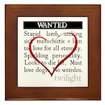 Twilight Wanted Framed Tile