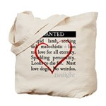 Twilight Wanted Tote Bag